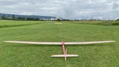 Aglaia (Eigenkonstruktion mit 4,8m Spannweite und 5,4kg Abflugmasse)
