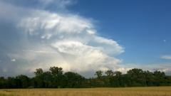 Beeindruckende Wolkenformation